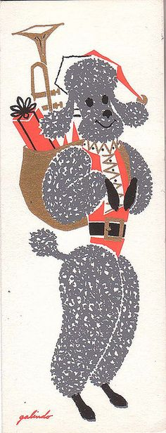 Poodle-Paws Claus by froggyboggler, via Flickr