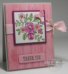 Card class showing off Hardwood Background and So Very Grateful stamp sets in Spring Occasions Mini.  Designed by Lori Mueller