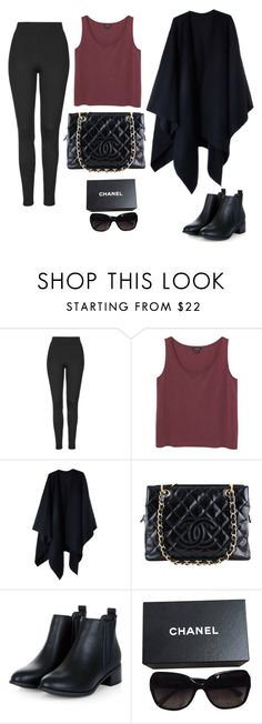 """""""free time"""" by monika1555 on Polyvore featuring Topshop, Monki, Acne Studios, Chanel, women's clothing, women, female, woman, misses and juniors"""