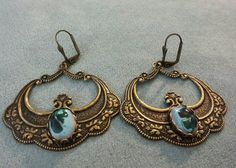 Check out this item in my Etsy shop https://www.etsy.com/listing/491844896/green-leaf-earrings-victorian-leaf