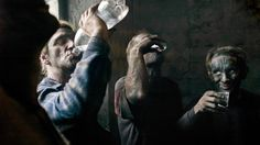 Photo: Coal miners drink moonshine after work in Enakievo. |   The broken-down beauty of Eastern Ukraine, 25 years after the end of the USSR | By Daniel A. Medina@dmedin11, Nov 16, 2014 |  Before there was a raging civil war that devastated the region's infrastructure and polarized its population, the Donbass region in Eastern Ukraine was an economically depressed area, far removed from the authority of the central government in Kiev.