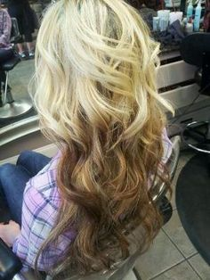 Reverse Ombre - Blonde to Brown