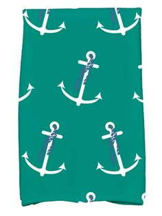 NAUTICAL HAND TOWELS LIST! Discover the best beach hand towels including options like anchor and seashell hand towels. We love tropical and coastal themed bathroom towels and kitchen towels.