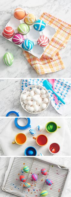 Everyone's an artist when it comes to dyeing Easter eggs. This year, try something new. By using blue painter's tape you can create richly colored eggs with bright white stripes. Add the tape to the hard-boiled eggs before placing them in the dye. Once the eggs have achieved the color you want, place them on drying rack. Once dry, remove the tape and pat yourself (and your kids) on the back for your amazing artistic skills. Get set for Easter at Kohl's.