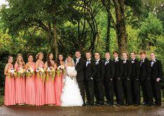 Classy Coral Wedding