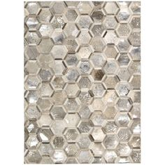 Nourison Michael Amimi City Chic Silver Leather Rug (5'3 x 7'5) - Overstock Shopping - Great Deals on Nourison 5x8 - 6x9 Rugs