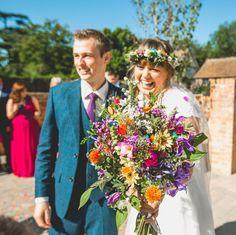 Colourful wildflower bouquet. Image: Instagram/benminnaarphotography #rainbow #wedding #flowers Wedding Bouquets, Wedding Flowers, Wedding Stuff, Rainbow Wedding, Wedding Planning Websites, Free Wedding, Wedding Bells, Getting Married, Wild Flowers
