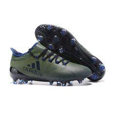 Adidas X 17.1 FG PEVNÝ POVRCH Tpu Černá Zelená Modrý Kopačky Crampon Adidas 90f8dd07473f0