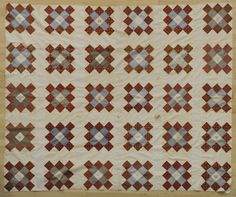 "Two pieced and appliqué quilt tops, one dated 1843, 86"" x 72"" and 92"" x 92"". Pook & Pook"
