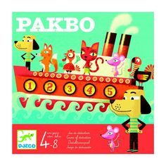 Pakbo is a beautifully illustrated, tactical game for children over 6 years with a nautical theme. By a process of deduction, players have to work out where all the passengers are sitting on the Kids Toys, Games, Birthday, Deduction, January, Gift Ideas, Number, Play, Box
