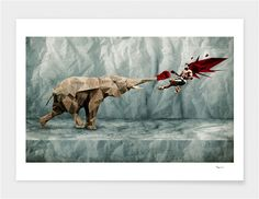 "Curioos.com | ""Nature Strikes Back"" by Vladimir Tomin - Gallery Quality Art Print from 15€ ($19)"