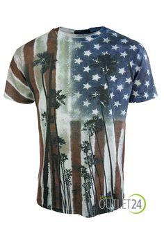 ALCOTT tričko american flag