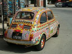 Sicilian Car | This old Sicilian Fiat 500 has been decorated… | Flickr
