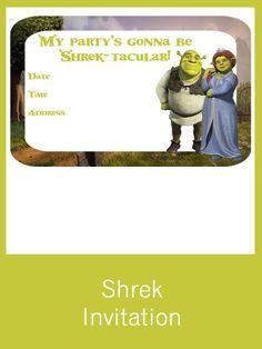 Shrek Invitation - FREE PDF Download
