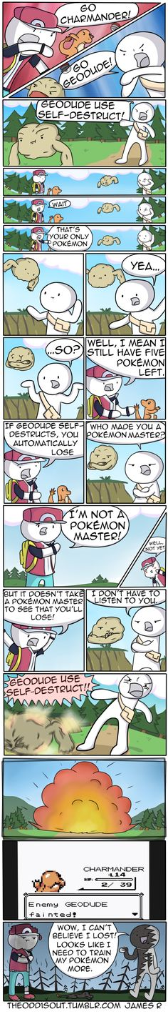 Red Tries to Help -- Pokemon Logic or lack there of