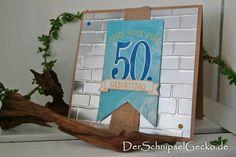 Stampin Up So viele Jahre - Karte 50. Geburtstag / Runder Geburtstag / Framelits Formen Große Zahlen / Prägeform Ziegel / SAB 2016 DerSchnipselGecko.de http://dini.derschnipselgecko.com/category/meine-kreationen/runder-geburtstag-so-viele-jahre/