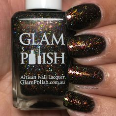 Glam Polish Dark Arts Collection LE (partial) - The Polished Pursuit Periwinkle Blue, Indie Brands, Jewel Tones, Dark Art, Green And Gold, Artisan, Nail Polish, Nails, Collection