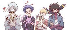 This is a kawai thing! Deku Anime, M Anime, Anime Guys, Anime Art, My Hero Academia Shouto, My Hero Academia Episodes, Hero Academia Characters, Pokemon Crossover, Anime Crossover