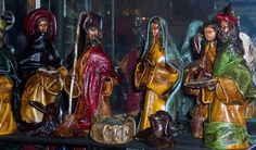 Unique Mexican folk-art nativities in leather