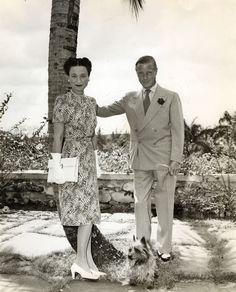 The Duke  Duchess of Windsor seen in Palm Beach, Florida in the 1940's..