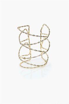 #fashion Jewelry #jewelry #wedding jewelry Twine Cuff in Gold love jewelry handmade jewelry