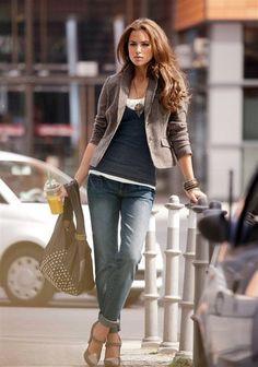 Casual Look #jeans #blazer