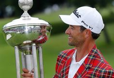 Adam Scott wins Crowne Plaza Invitational to retain #1 world ranking.  He defeated Jason Dufner in a playoff to take the prize.  He also completed the Texas Slam by winning.  First golfer to achieve this goal.