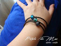 Petale de Mac Mac, Bracelets, Leather, Handmade, Jewelry, Bangles, Jewellery Making, Hand Made, Jewels