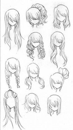 Neat hairdos to draw