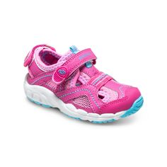 Stride Rite Baby M2P Sandy Sandal in Pink. #stirderite #babym2ppetra #pink #sandals #babygirlsshoes #baby #girls #pink #watersandal