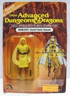 """Mercion, """"Good Cleric Female,"""" from LJN's Advanced Dungeons & Dragons toy line"""