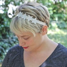 Easy star hair accessories - perfect for the 4th of July or any holiday!