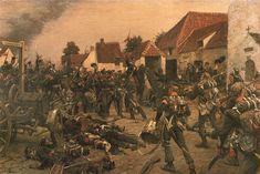 Prussian & Dutch Belgian troops meet at Waterloo 1815