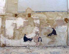 Escif, Peer to Peer, Valencia - unurth   street art
