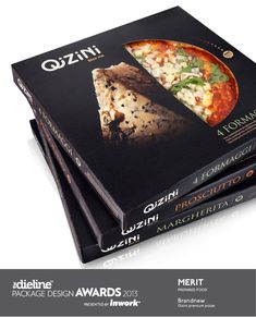 The Dieline Package Design Awards Prepared Food, Merit - Qizini Pizza Food Packaging Design, Beverage Packaging, Packaging Design Inspiration, Pizza Branding, Packaging Awards, Brand Packaging, Food Design, Logo Pizzeria, Pizza Box Design