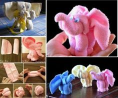 Elephant Washcloths - Cute for a baby shower gift or activity the shower! Accessoires Waschlappen Baby Washcloth Elephants The Cutest Gift For A Newborn Baby Shower Parties, Baby Boy Shower, Baby Shower Gifts, Baby Party, Bouquet Cadeau, Towel Origami, Towel Animals, Baby Animals, Baby Washcloth