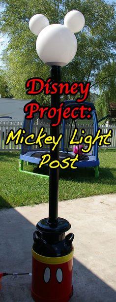 Back Project Idea: Fortfiends Craft Forum Mickey Light Plan: Carol-anne Fabric Used: Old Milk Jug, Pvc pipe, lots of Spra...