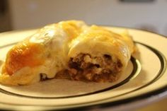 Ground Beef and Green Chili Enchiladas by Alexis