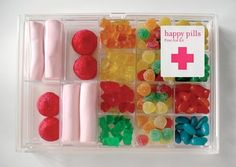happy pills... cute get well present or just gift for a friend who is feeling sad