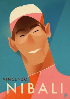 Vincenzo Nibali by Riccardo Guasco.