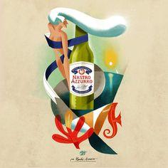 Riccardo Guasco X Peroni : des illustrations ornées de bières précieuses