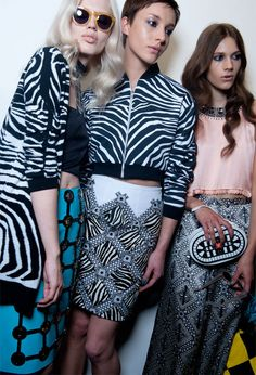 Holly Fulton's show backstage - we want this skin!