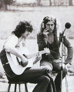 Robert and Jimmy recording Black Country Woman at Stargroves 1970