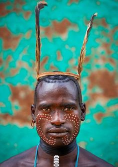 Bana Tribe man - Omo Valley, Ethiopia by Eric Lafforgue