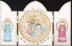 triptico Sagrada Familia   Flickr - Photo Sharing! Barcelona Tours, Christmas Nativity, Sunday School, Night Life, Folk Art, Xmas, Diy Crafts, Cards, Wise Men