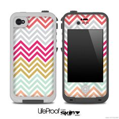 Colorful Chevron Pattern V2 Skin for the iPhone 4/4s or 5 LifeProof Case on Etsy, $9.99