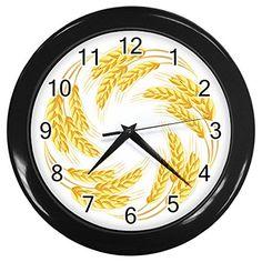 Circle Of Wheat Black Frame Kitchen Wall Clock CustomMade http://www.amazon.com/dp/B010XNHZQU/ref=cm_sw_r_pi_dp_hQlNvb0DAQ7AM