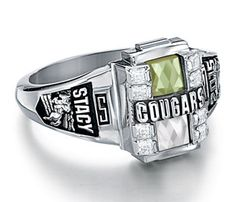 High School #ClassRings - #Jostens - Personalized Senior Class Graduation Rings