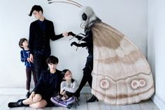 'UU' Uniqlo Undercover AW2012. Hallowe'en idea: Be a moth and have a friend dress up as a moth ball.
