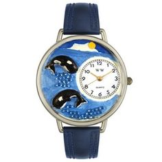 Whales Navy Blue Leather And Silvertone Watch #U0140005 - http://www.artistic-watches.com/2013/02/12/whales-navy-blue-leather-and-silvertone-watch-u0140005-2/